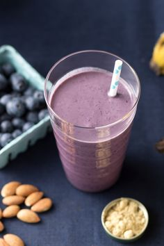 The kick of fresh ginger gives welcome heat to this blueberry-banana smoothie, made with almond milk. Plus, both blueberries and gingers are natural immune boosters, so you'll ward off illness, too!