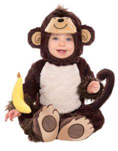Disfraz monito niño: Este disfraz de monito para niño incluye un mono, una capucha y un sonajero. El mono es de color marrón, de tela con pelo corto efecto peluche, es muy suave al tacto. En las...