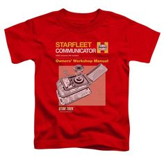 Star Trek/Comm Manual Short Sleeve Toddler Tee , Toddler Boy's