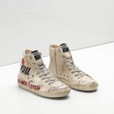 Golden Goose Francy Sneakers Handwritten Detail Star In Leather White Men - Golden Goose / GGDB #women #supersneakers #fashion  #goldengoose #Christmas #Christmasgifts #gifts