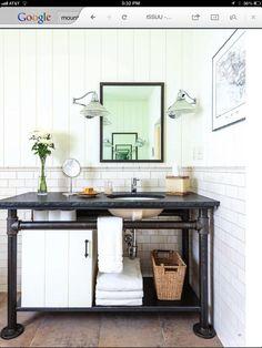 Idea for bathroom vanities.