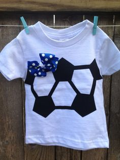 Soccer baby onesie and tutu With matching hair bow in by Layne2010