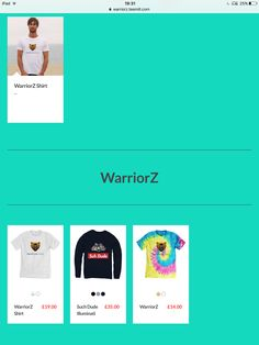 https://warriorz.teemill.com T-shirts unisex kids unisex and jumpers unisex all cheap and good quality.  2 different colours in both t-shirts and 3 different colours in the jumper  Adding more soon