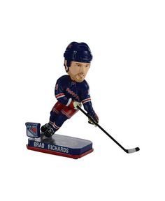 fea44388b Forever Collectibles Brad Richards New York Rangers Springy Logo Bobble  Figurine - Blue
