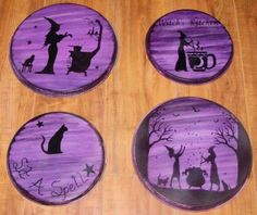Witches Kitchen Witch oven Burner Covers stovetop halloween decorations samhain magic Witchcraft Folk Art Halloween decorations Hearth Pagan Wiccan Magic Primitives by SleepyHollowPrims for $50.00
