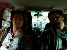 GAME FACE. I love how Jensen's trying to look all cool and Jared's just like let's do this!