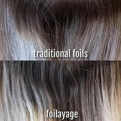 Traditional foils combined with balayage do wonders to both blonde and dark hair. This coloring technique is the best way to get natural-looking locks with balayage effect. Read tips from a professional stylist! Foil Highlights, Brown Hair With Highlights, Hair Foils, Shampooing Sec, Hair Color Formulas, Brown Hair Balayage, Foils Vs Balayage, Ombre Hair, Blonde Hair