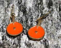 Colourd Dot Earrings – Noor Design Messing handmade
