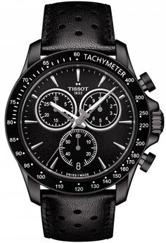 @tissot Watch V8 #add-content #basel-16 #bezel-fixed #bracelet-strap-leather #brand-tissot #case-depth-12mm #case-material-black-pvd #case-width-43mm #chronograph-yes #date-yes #delivery-timescale-1-2-weeks #dial-colour-black #gender-mens #luxury #moveme