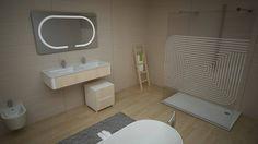 Conceito Harmony Espelho, lavatório, base de duche e resguardo de banho.  Concept Harmony Mirror, washbasin, shower tray and shower enclosure.  #biselarte #harmony
