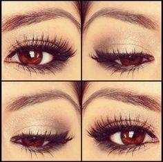 Perfect eyelashes and eyeliner!