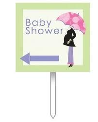Mod Mom Baby Shower Sign