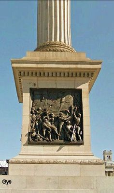 Pedestal of Nelson's Column, Trafalgar Square, London