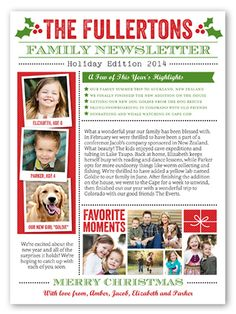 Family Newsletter 6x8 Greeting Card | Christmas Cards | Shutterfly