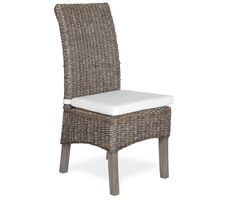 Add some exoticism to your dining space with the Catalina woven side chair. Finished in an eco-friendly java colored wax, handwoven abaca covers a solid mahogany frame. Whitewash Dining Table, Side Chairs, Dining Chairs, Dining Room, Boston Interiors, Home Furniture, Outdoor Furniture, Wood Sample, Natural Interior
