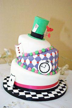 My Alice in Wonderland Wedding / 30th Birthday cake.  (Cakestreat Cheshire, Photo by SJ Stephenson)