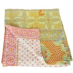 tulsicrafts   baby kantha blanket cotton sari   tara