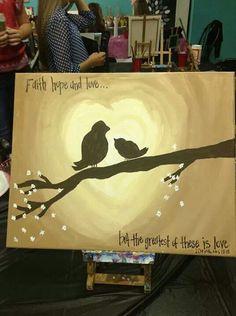 Canvas painting Faith hope and live