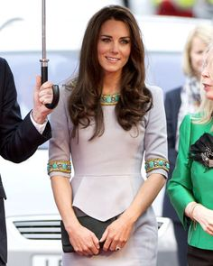 Kate Middleton in Matthew Williamson... I love an added pop of color or detail to something so simple... makes the look elegant and different