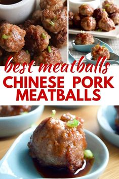 Fun party food for a crowd, make ahead appetizer for any celebration. Holidays, superbowl, a cocktail party at home--- delicious chinese pork meatballs will become a party favorite! Appetizers For A Crowd, Food For A Crowd, Appetizers For Party, Appetizer Recipes, Meatball Appetizers, Party Recipes, Cocktail Party Food, Party Food And Drinks, Pork Meatballs