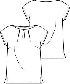 Pattern of the week: Top - Annelies Fleuren Patroon van de week: Top Pattern of the Week: Top Sewing School, Sewing Class, Pattern Grading, Sewing Alterations, Diy Tops, Make Your Own Clothes, Drawing Clothes, Sewing Hacks, Sewing Ideas