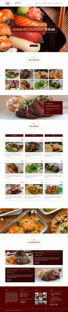 Asia Wok is an new premium responsive WordPress Theme. It has powerful theme options and fully seo optimized for your next project. Restaurant Web, Restaurant Themes, Wordpress Template, Wordpress Theme, Asian Restaurants, Creative Web Design, Wok, Asian Recipes, Free