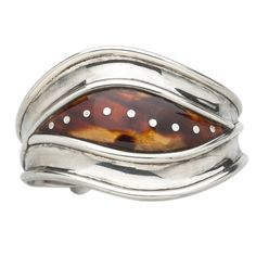 William Spratling, Mexico, Silver and Tortoiseshell Bracelet (1949 - 1951)			  			Circa. 1949-51