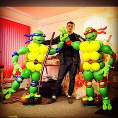 Черепашки ниндзя из шаров. Turtles balloons