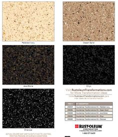 Rust-Oleum countertop Transformation Kit. MSG recd from Rust-Oleum: Our Countertop Transformations Kit is designed for laminate surfaces only, it will not adhere properly to a tile surface.  Our Tile Transformations Kit is our only product that will adhere to a tile surface.