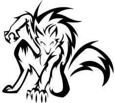 werewolf by Iciclefobbit on DeviantArt Tribal Tattoos, Tribal Wolf Tattoo, Wolf Tattoos, Body Art Tattoos, Celtic Tattoos, Sleeve Tattoos, Tribal Drawings, Lobo Tribal, Arte Tribal