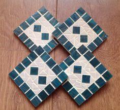 Set of 4 Mosaic coasters, £15