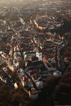 My aerial picture of Tallinn's Old City.