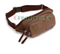 Vintage Canvas Sports Hmong Fanny Pack Wallet Travel Waist Hip Pack Cell Phone