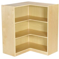 Features:  -Material: Birch.  -Finish: Natural.  -Durable hardwood corner storage cabinet helps utilize unused space in your home, classroom, or daycare.  -Strong and durable construction.  -Works in
