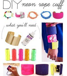 """DIY: Neon Rope Cuff"" by polyvore-editorial on Polyvore @Monika Rivera Carballo"