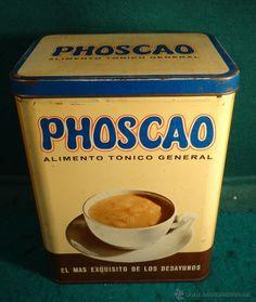 PHOSCAO CAJA LATA DE 1 KILO - P.V.P. 67,60 PTAS. - BARCELONA. estalcon@gmail.com ========= VENDIDO =======