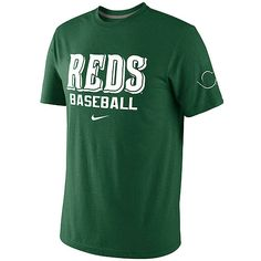 Green is the theme today for St. Patty's Day. And no better way to show off than with this Cincinnati Reds Men's St. Patrick's Day Tri-Blend Tee by Nike. Only $31.99.