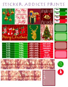 Free Christmas Joy Weekly Planner Kit   Sticker Addicts Anonymous