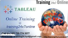 TABLEAU Online training @ Training24x7online  http://training24x7online.com/courses/other-courses/tableau-online-training.html  REACH US: +91 720 774 3377 / training24.hyd@gmail.com  #TABLEAU Online training in Training24x7online.Our #Online #Courses are ideal for students and #Working #Professionals who want to upgrade their educational qualifications and make advancements in their careers.  #Training24x7online Provides training by experienced #IT#Professionals.