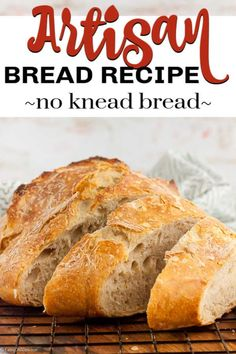 Artisan Bread Recipe only requires 3 simple ingredients and you can have homemade bread at home with little effort. Try this artisan sourdough bread recipe. Brunch Recipes, Easy Dinner Recipes, Easy Meals, Dessert Recipes, Easy Recipes, Artisan Sourdough Bread Recipe, Artisan Bread Recipes, No Knead Bread, Love Eat
