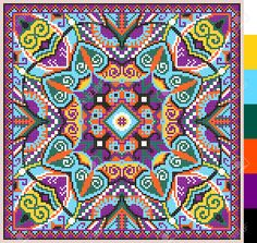 Illustration about Geometric square pattern for cross stitch ukrainian traditional embroidery, who like hand made and creation, pixel ornamental vector illustration. Illustration of ornamental, handmade, craft - 51062732 Geometric Embroidery, Hand Embroidery Designs, Diy Embroidery, Cross Stitch Embroidery, Embroidery Patterns, Cross Stitch Patterns, Knitting Patterns, Tapestry Crochet, Modern Cross Stitch