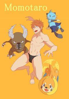 Free! Momo+Pokemon