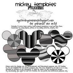 Mickey Templates:  Digi Freebies!