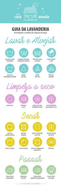 Montamos um infográfico para você saber ler os símbolos das etiquetas de lavagem e tirar de letra essa atividade.