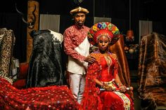 Love the colours in this Zulu wedding dress.