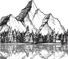 Image result for mountain drawing