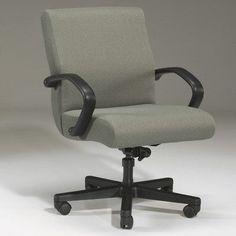 Triune Business Furniture Desk Chair Upholstery Color: Black, Frame Finish: Walnut, Tilt Mechanism: Tilt Lock Included