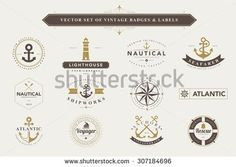 Nautical Logo Stock Photos, Images, & Pictures   Shutterstock