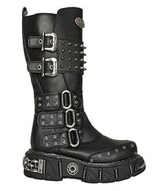 d45d7bb2c Boots for Burning Man  Spiked Double Buckle Strap Steampunk Grunge Mad Max  Military Men s Boots