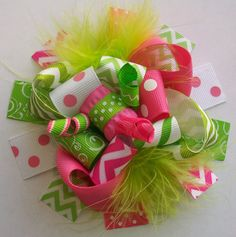 Chevron Hair Bow Hair bow Hair bows Hairbow Girls by 4baublesnbows